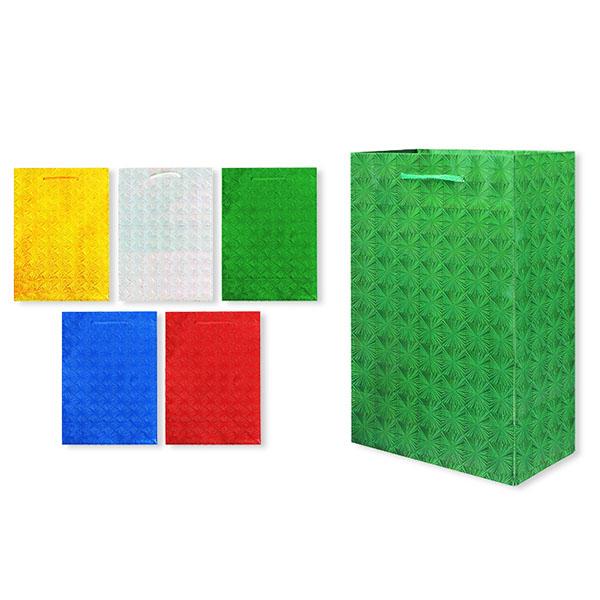 Пакет подарочный бумажный S1494 голография 28x18x10 см, 5 видов (в ассортименте) пакет подарочный бумажный garden tz6617 32 5 26 11 5 см в ассортименте