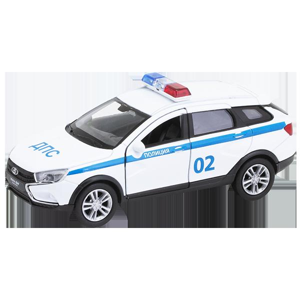 Welly 43763PB Велли Модель машины 1:34-39 LADA VESTA SW CROSS Полиция ДПС welly 42377pb велли модель машины 1 34 39 lada 2108 милиция дпс