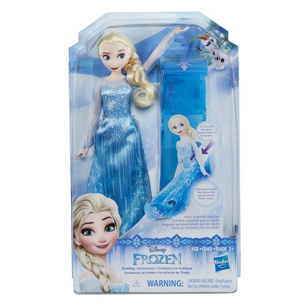 Hasbro Disney Princess E0086 Кукла Эльза и санки