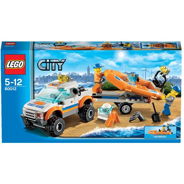 LEGO City 60012 Конструктор ЛЕГО Город Внедорожник и катер водолазов