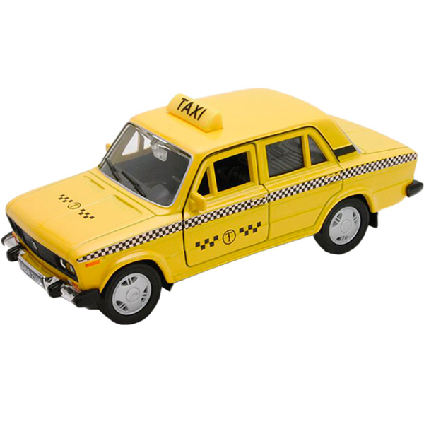 Welly 43644TI Велли модель машины 1:34-39 LADA 2107 ТАКСИ welly 42377ry велли модель машины 1 34 39 lada 2108 rally