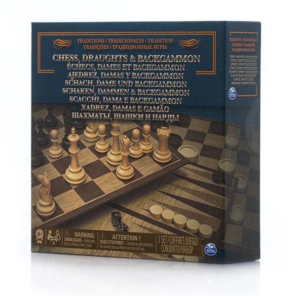 Spin Master 6038107 Настольная игра 3-в-1 (шахматы, шашки, нарды) настольные игры шашки онлайн