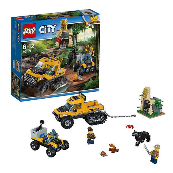 Lego City 60159 Лего Город Миссия Исследование джунглей конструкторы lego lego city jungle explorer база исследователей джунглей 60161