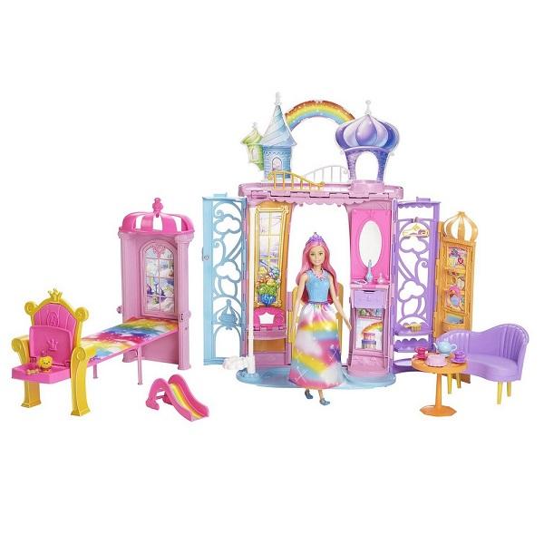 Mattel Barbie FRB15 Барби Переносной радужный дворец mattel barbie dmb27 барби сестра barbie с питомцем