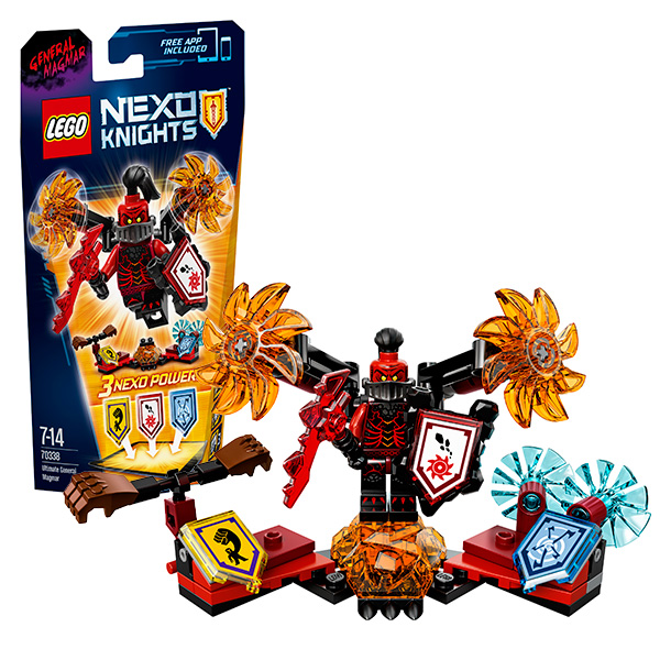 Lego Nexo Knights 70338 Конструктор Лего Нексо Генерал Магмар- Абсолютная сила ластики lego набор ластиков 4 шт lego nexo knights рыцари нексо
