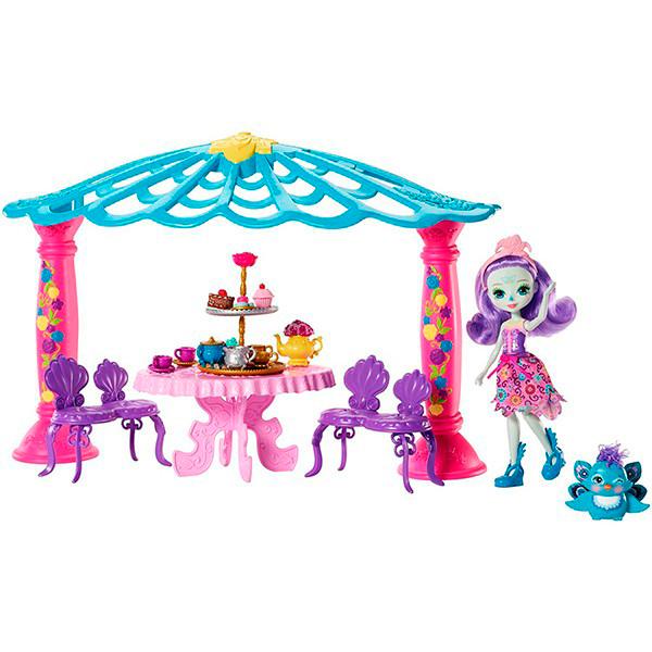 Mattel Enchantimals FRH49 Набор Чаепитие Пэттер Павлины и Флэпа mattel enchantimals dyc76 кукла пэттер павлина 15 см