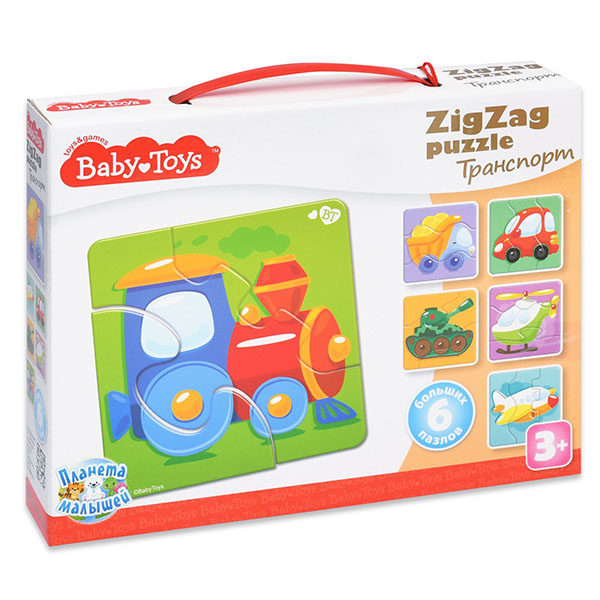 BABY TOYS TD02502 Пазлы макси ЗИГЗАГ Транспорт, (18 эл.) baby toys парные макси пазлы baby toys чей малыш 20 элементов