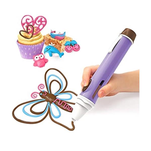 1toy Шеф-кондитер T19867 Набор Шоколадная ручка новая версия для украшения и изготовления 3D фигурок