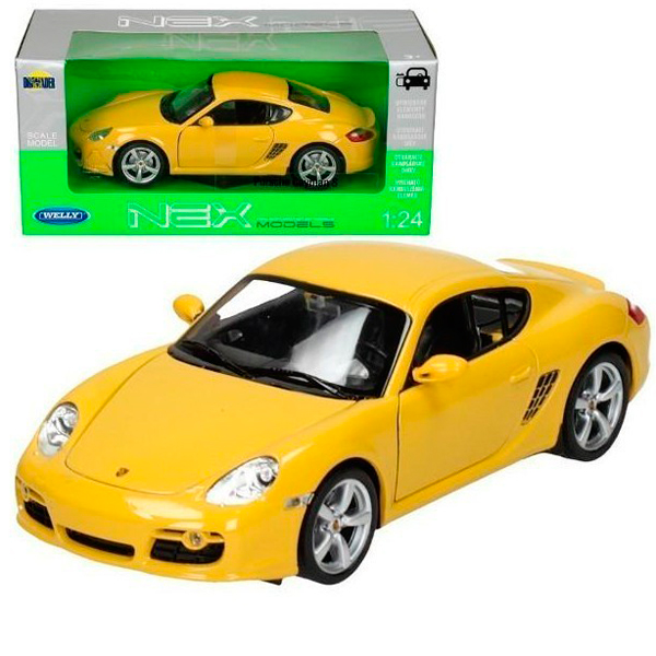 Welly 22488 Велли Модель машины 1:24 Porsche Cayman S автомобиль welly porsche cayman s 1 24