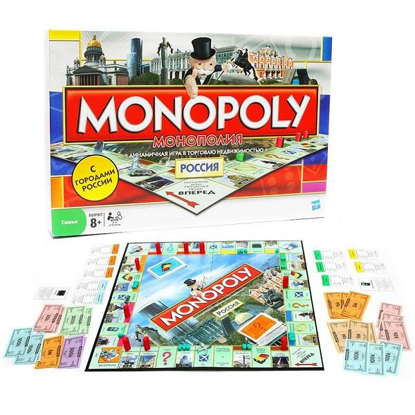 Hasbro Monopoly 01610 Настольная игра Монополия-Россия цена 2017