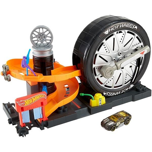 Mattel Hot Wheels FNB17 Хот Вилс Сити Игровой набор Вращение колес hot wheels hw91602 машинка хот вилс на батарейках свет звук красная 13 см