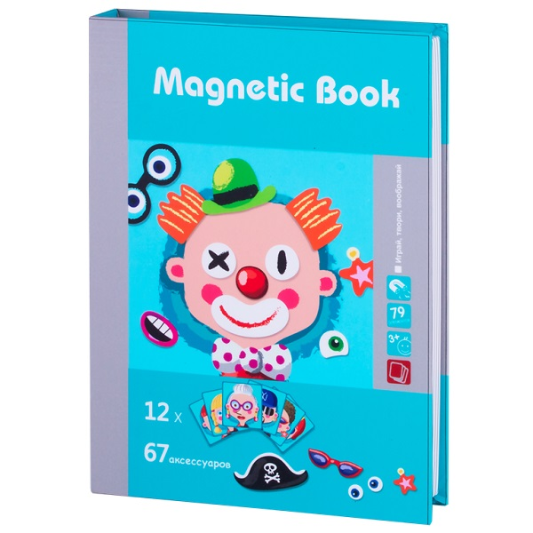 Magnetic Book TAV033 Развивающая игра Гримёрка веселья
