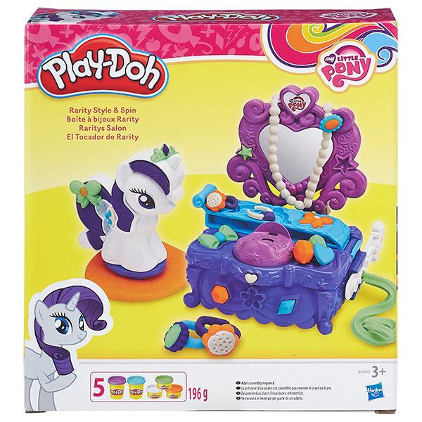 Hasbro Play-Doh B3400 Игровой набор Туалетный столик Рарити hasbro play doh b5517 игровой набор из 4 баночек в ассортименте обновлённый