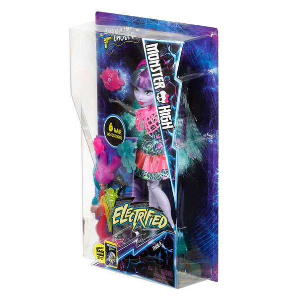"""Monster High DVH71 Школа Монстров Монстряшки из серии """"Под напряжением"""" Твила"""