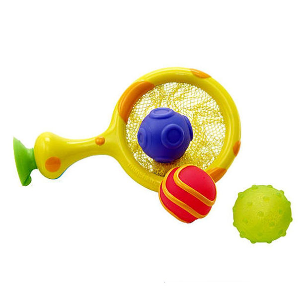 MUNCHKIN 12004D Игрушка для ванны 2 в 1 Кольцо с мячиками-брызгалками