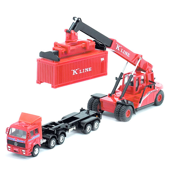 Welly 99799-2G Велли Модель контейнеровоза с погрузчиком tomy трактор john deere 6830 с двойными колесами и фронтальным погрузчиком с 3 лет