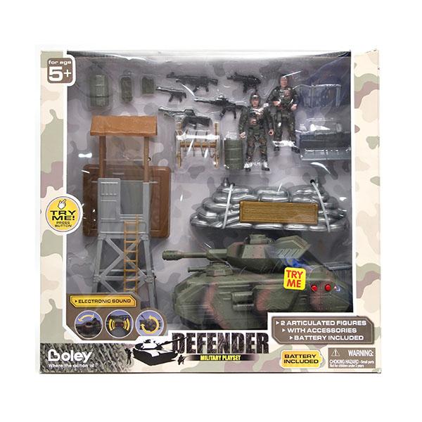 """Boley 31511 """"Военные"""" 2 набора: танк с аксессуарами или самолет (в ассортименте)"""