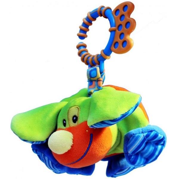 Фото - ROXY-KIDS RBT10076 Игрушка развивающая Щенок Гиглсо звуком roxy kids rbt20014 игрушка развивающая слоненок сквикер пищалка внутри размер 18 см