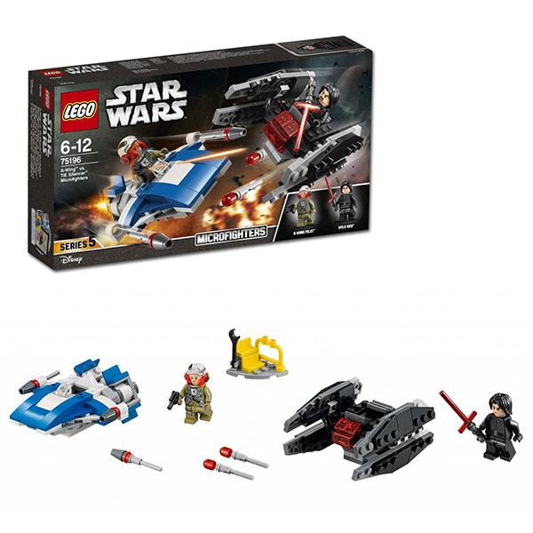 lego lego star wars 75150 лего звездные войны усовершенствованный истребитель сид дарта вейдера Lego Star Wars 75196 Лего Звездные Войны Истребитель типа A против бесшумного истребителя СИД