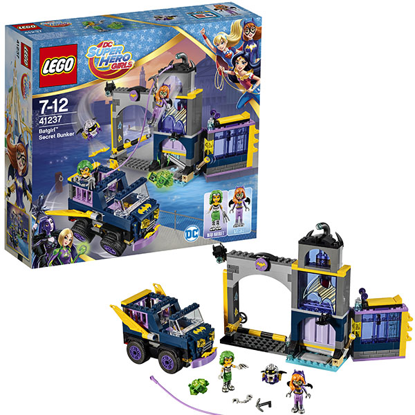 Lego Super Hero Girls 41237 Конструктор Лего Супергёрлз Секретный бункер Бэтгёрл lego super hero girls 41230 лего супергёрлз бэтгёрл погоня на реактивном самолёте