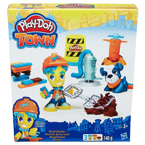 Hasbro Play-Doh B3411 Город Игровой набор Житель и питомец (в ассортименте) hasbro play doh b5517 игровой набор из 4 баночек в ассортименте обновлённый