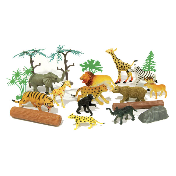 """Boley 33802TR Игровой набор Рюкзачок """"В мире животных"""" в комплекте 20 шт"""