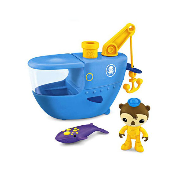 Mattel Octonauts W3144 Октонавты Шеллингтон и синяя подводная лодка