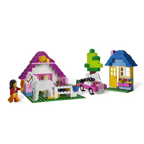 Конструктор Лего Криэйтор 5560 Конструктор Большая коробка с розовыми кубиками