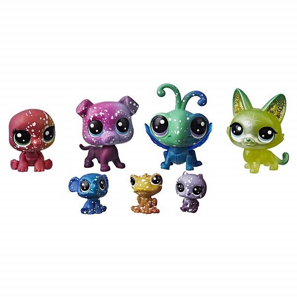 купить Hasbro Littlest Pet Shop E2129 Литлс Пет Шоп 7 космических петов недорого