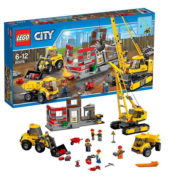 Lego City 60076 Конструктор Лего Город Снос старого здания