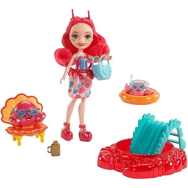 Mattel Enchantimals FKV60 Морские подружки с тематическим набором кукла enchantimals со зверушкой и тематическим набором fcc62 праздник фламинго