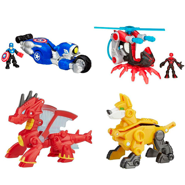 Hasbro Playskool Heroes B4954N Трансформеры спасатели: Друзья-спасатели + Трансформеры спасатели hasbro play doh игровой набор из 3 цветов цвета в ассортименте с 2 лет