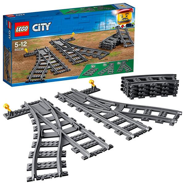 Lego City 60238 Конструктор Лего Город Железнодорожные стрелки lego lego city железнодорожные стрелки
