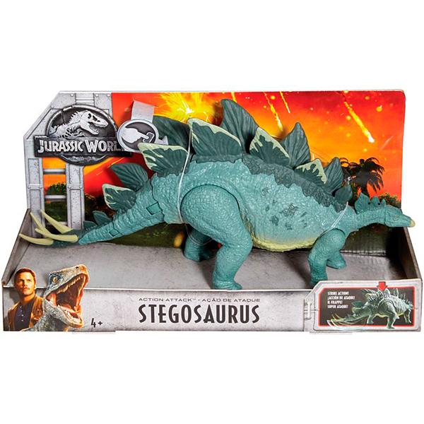 "Mattel Jurassic World FMW88 Фигурки динозавров ""Боевой удар"" Stego"