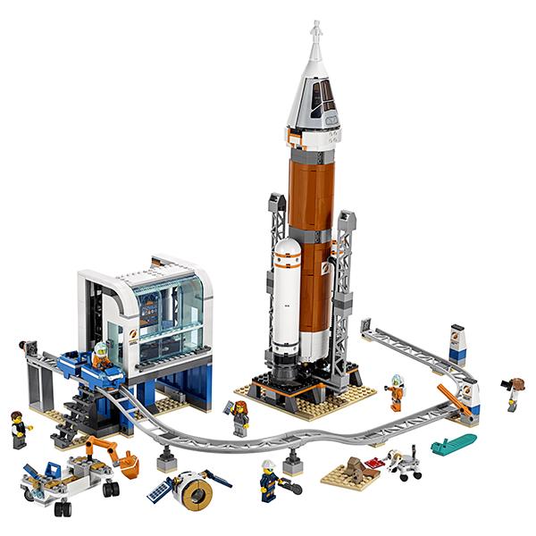 LEGO City 60228 Конструктор ЛЕГО Ракета для запуска в далекий космос и пульт управления запуском