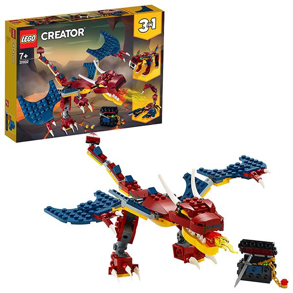 LEGO Creator 31102 Конструктор ЛЕГО Криэйтор Огненный дракон стоимость