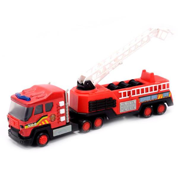 Soma 71520 Пожарная машина со световым и звуковым эффектом 28 см машины mighty wheels soma военный перевозчик танк 28 см