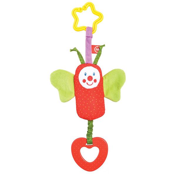Happy Baby 330351 Подвесная игрушка-колокольчик Бабочка