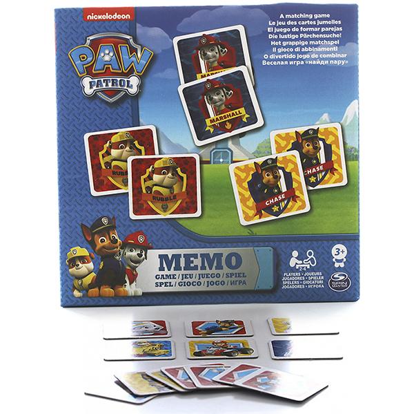 Paw Patrol 6033326 Щенячий патруль Мемори, 48 карточек spin master большой автомобиль спасателей погрузчик рокки щенячий патруль