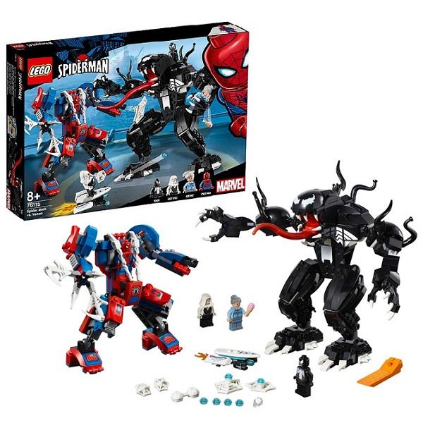 все цены на LEGO Super Heroes 76115 Конструктор Лего Человек-паук: Человек-паук против Венома