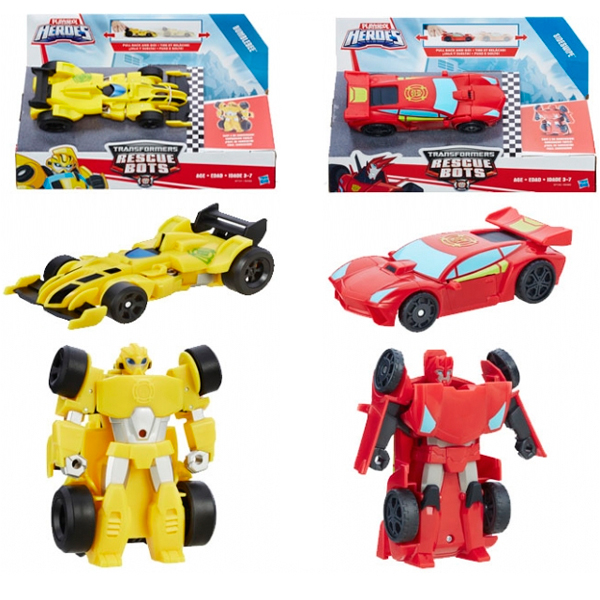 Hasbro Playskool Heroes B5582N Трансформеры Спасатели: Гоночные машинки + Спасатели