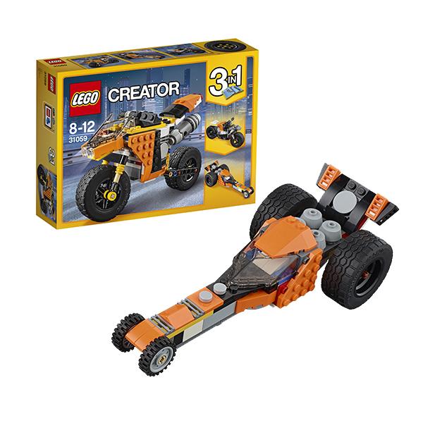 Lego Creator 31059 Лего Криэйтор Жёлтый мотоцикл конструкторы lego lego игрушка криэйтор магазин по продаже игрушек и продуктов номер модели 31036 lego creator