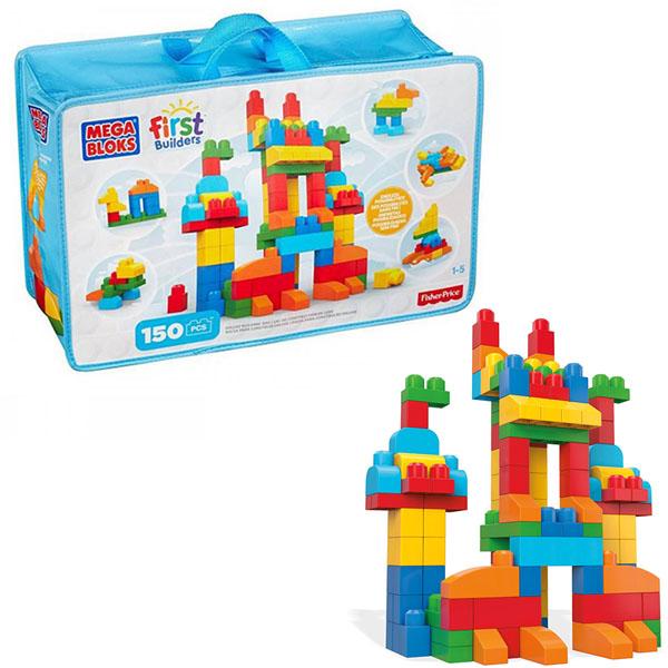 Mattel Mega Bloks CNM43 Мега Блокс Обучающий Большой конструктор в сумке 150 дет. mattel mega bloks dlb78 мега блокс базовые игровые наборы
