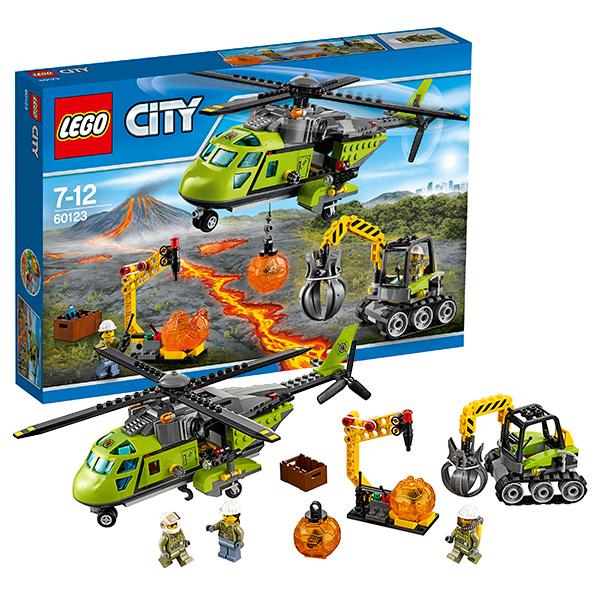 Lego City 60123 Лего Город Грузовой вертолёт исследователей вулканов конструкторы lego lego city jungle explorer база исследователей джунглей 60161