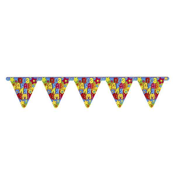 Веселая Затея 1505-0203 Гирлянда-вымпел ПОЗДР Звезды 200 см/Д disney гирлянда детская на ленте тачки с днем рождения