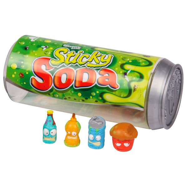 Grossery Gang 69075 4 фигурки, упаковка в виде банки содовой
