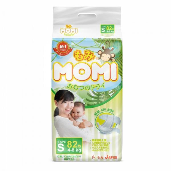 MOMI 4573726-789123 Подгузники S ( 4-8 кг), 82 шт.
