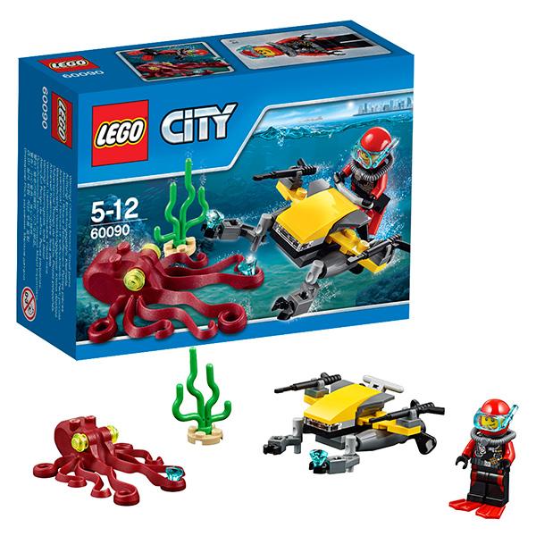 LEGO City 60090 Конструктор ЛЕГО Город Глубоководный Скутер
