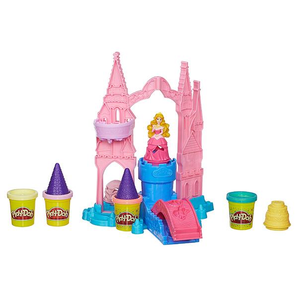 Hasbro Play-Doh A6881 Игровой набор пластилина Чудесный замок Авроры hasbro play doh b5517 игровой набор из 4 баночек в ассортименте обновлённый