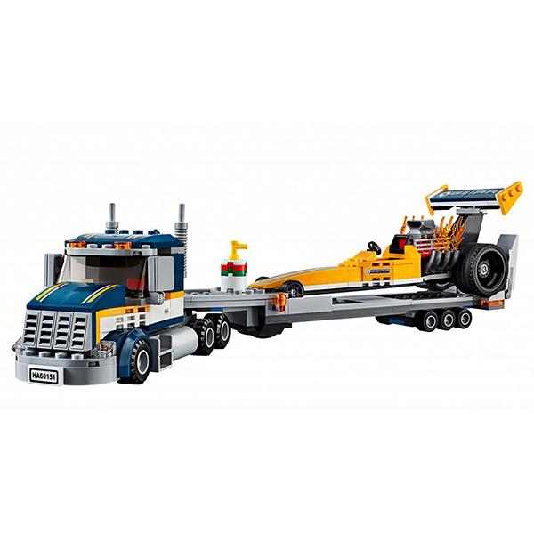 Lego City 60151 Конструктор Лего Город Грузовик для перевозки драгстера